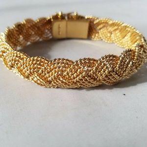 Jewelry - 14K Yellow Gold Fancy Braided Bracelet Heavy 47g